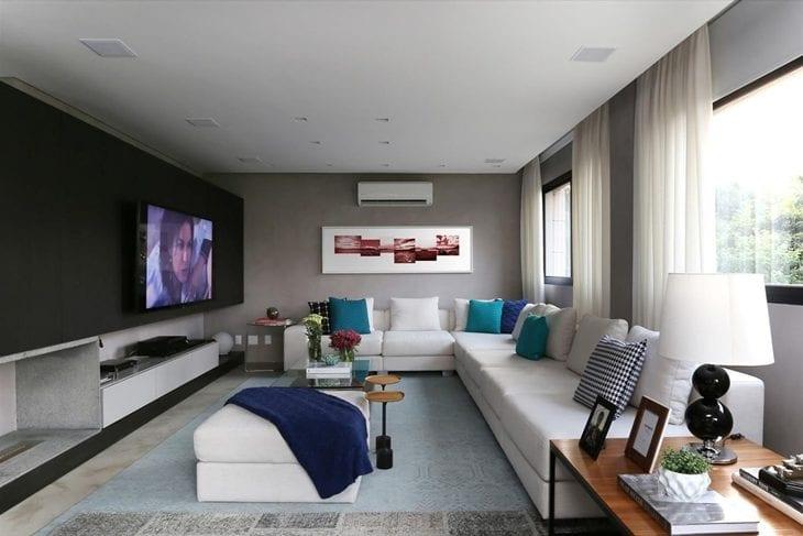 Sala De Tv Moderna E Aconchegante.Salas Modernas 50 Ambientes Que Vao Te Encantar Fotos