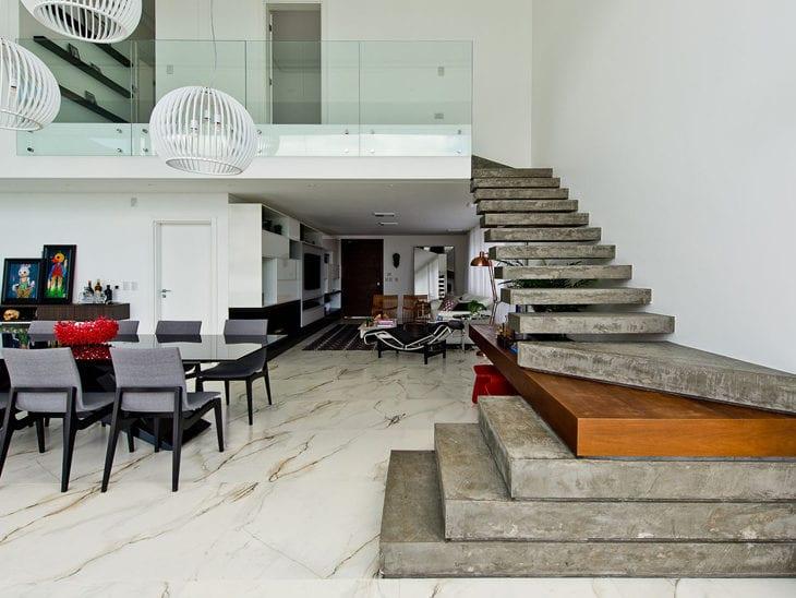 Escada De Concreto 40 Ideias Para Comprovar A Beleza Deste Material