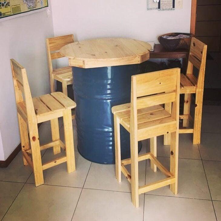 Conhecido bar de paletes lb85 ivango for Mesa de pallet