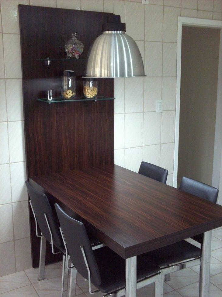 Mesa de parede 64 ideias para ajudar a economizar espa o - Mesas abatibles de pared ...