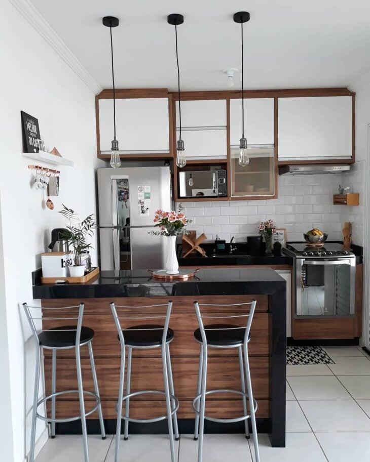 Cozinha americana pequena 80 modelos para se inspirar fotos Modelos de cocinas modernas americanas