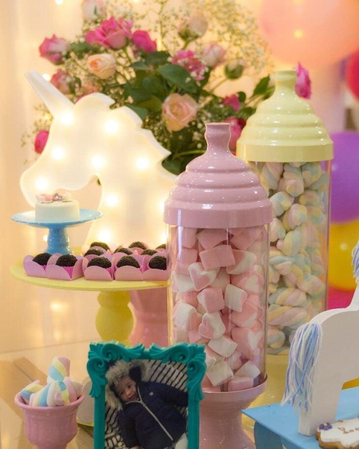 97c34ad0a Festa de unicórnio  80 ideias de decoração