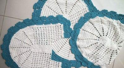 Jogo de banheiro de crochê: 70 modelos e tutorias para se inspirar e reproduzir