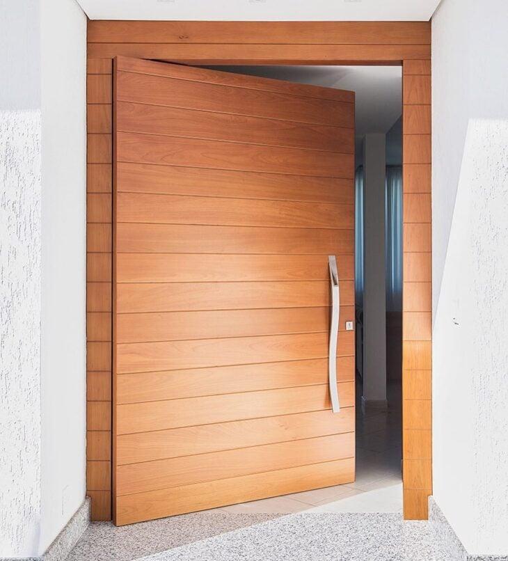 Portas De Entrada De Madeira 80 Modelos Para Transformar Sua Casa