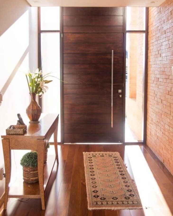 e906ae432 Portas de entrada de madeira: 80 modelos para transformar sua casa