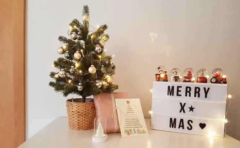 árvore De Natal Pequena Decorada 80 Ideias Para Inspirar Fotos