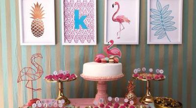 Festa Flamingo: 90 fotos e tutoriais para uma comemoração incrível