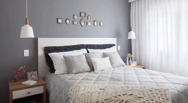 Quarto cinza: 70 ideias cheias de estilo para adicionar a cor no ambiente