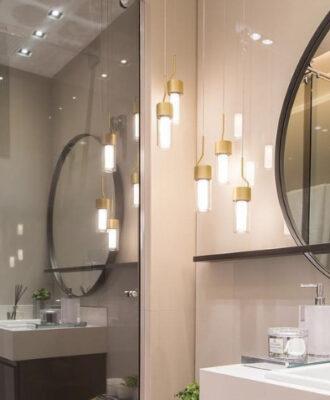 50 modelos de luminária para banheiro para renovar o espaço