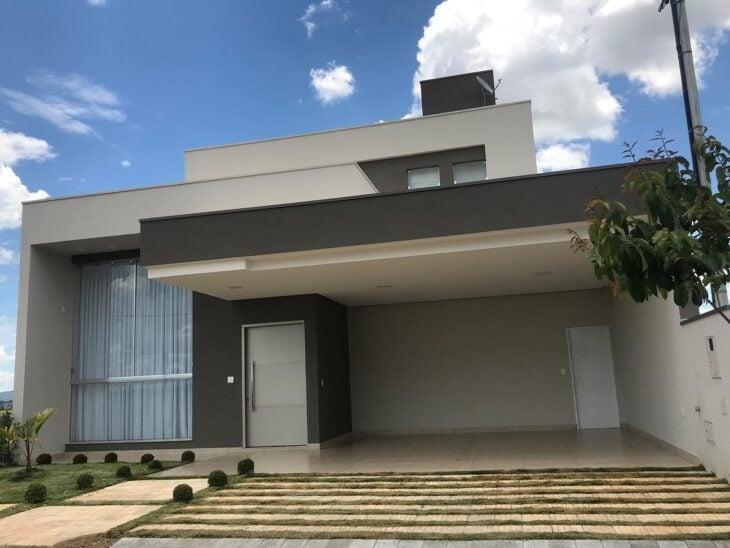 100 fachadas de casas modernas e incr veis para inspirar for Fachadas de casas modernas de 2 quartos