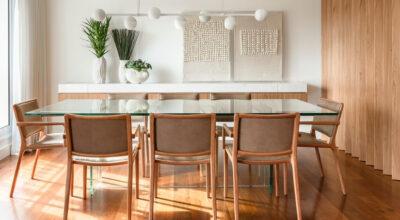 Mesa de jantar de vidro: 40 modelos para incrementar seu espaço