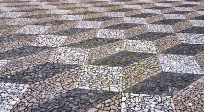 Pedra portuguesa: opções e propostas para diferentes ambientes