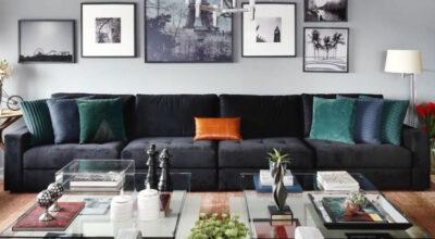Sofá preto: 50 modelos para uma sala ainda mais estilosa
