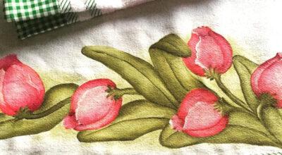 Pintura em pano de prato: 50 ideias e tutoriais para aprender a técnica