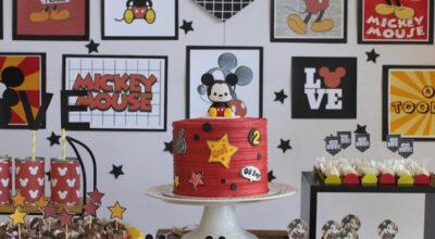 Bolo do Mickey: 110 modelos alegres do icônico personagem da Disney