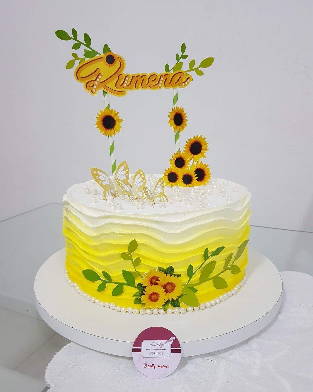 Bolo De Girassol 80 Sugestões Para Florir A Sua Festa