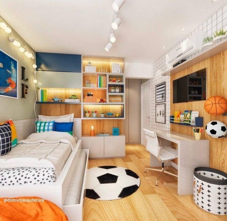 decoração de quarto futebol