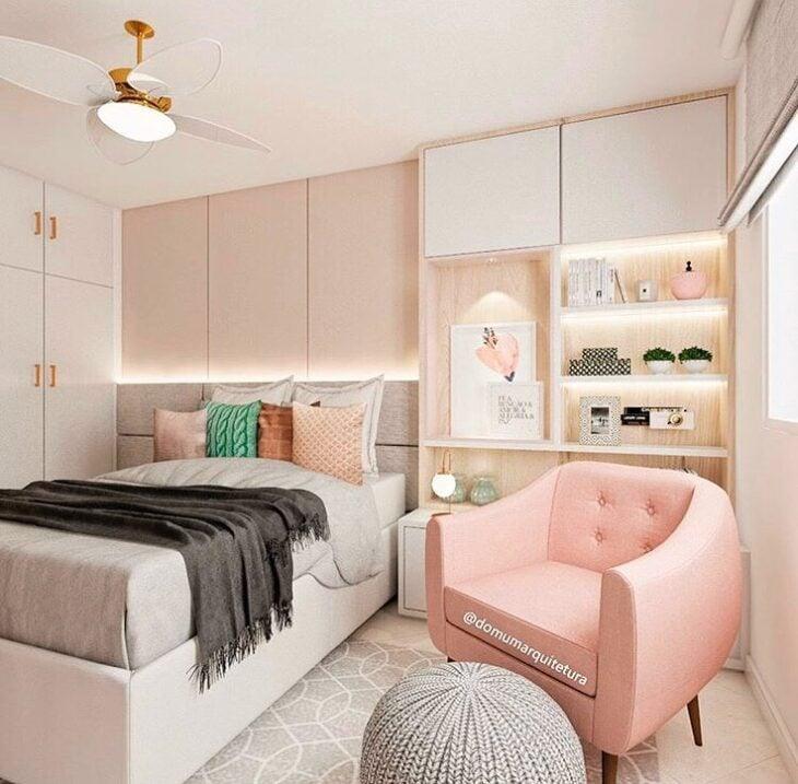 cadeira rosa grande quarto feminino
