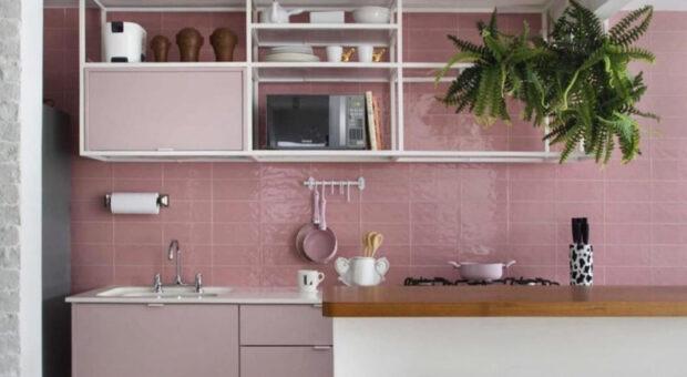 60 projetos de cozinha rosa para suspirar de amores