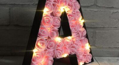 Luminária com letras: passo a passo e 20 modelos para se inspirar