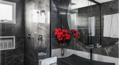 45 ambientes com porcelanato preto que são pura sofisticação