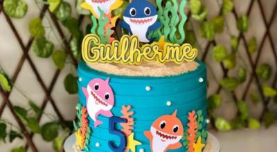 Bolo Baby Shark: 100 ideias e tutoriais para cantar e dançar no aniversário