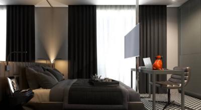 Cortina preta: 35 decorações para um espaço luxuoso e único