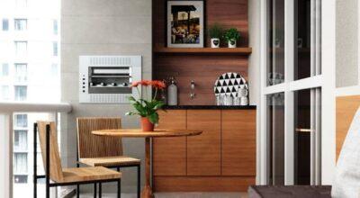 Espaço gourmet pequeno: 65 ambientes que são puro conforto e elegância