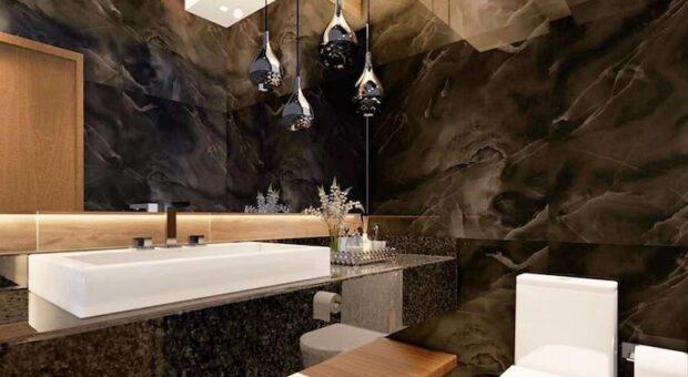 Lustre para banheiro: 65 imagens para inspirar a sua decoração