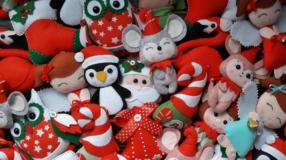 Enfeites de Natal de feltro: 70 inspirações e moldes para enfeitar