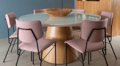Mesa redonda de vidro: 68 maneiras de usar na sua decoração