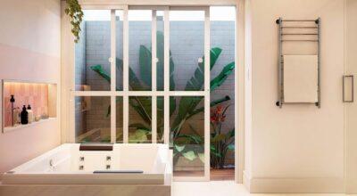 Porta de vidro para banheiro: 35 inspirações e dicas de uso