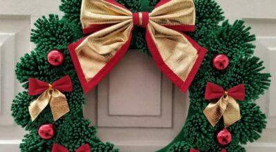 50 ideias de guirlanda de Natal de EVA para decorar a casa no fim de ano