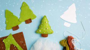 Molde de árvore de Natal: modelos e inspirações de decoração artesanal