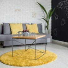 25 inspirações de tapete redondo para sala na decoração
