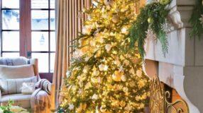 Árvore de Natal dourada: glamour e brilho na decoração natalina