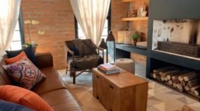 Sala rústica: 50 fotos e dicas para combinar o bruto com o aconchegante