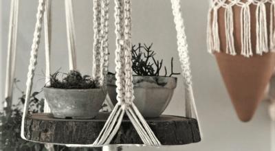 Ideias e tutoriais para fazer o seu suporte de macramê para vasos
