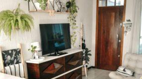 Casal aposta em plantas e DIY para a decoração do lar