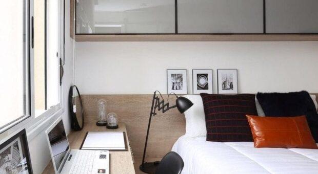 60 opções modernas e estilosas de quarto com escritório