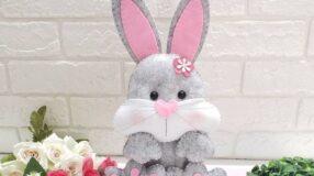 70 modelos de coelho de feltro para decorar sua Páscoa