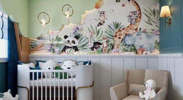 30 fotos de quarto de bebê safári para uma decoração divertida