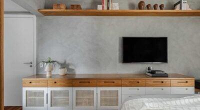 30 ideias de rack para quarto para dar charme ao ambiente