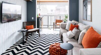 20 ambientes com tapete Chevron para usar a estampa na decoração