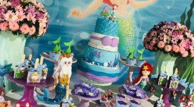 100 modelos encantadores de bolo da Ariel