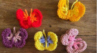20 inspirações com borboleta de crochê que são pura criatividade