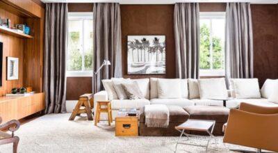 90 ambientes com parede marrom para mudar a sua decoração