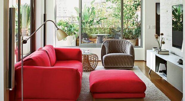 50 sugestões ousadas para ter uma sala de estar vermelha