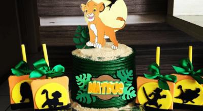 90 ideias de bolo do Rei Leão que te farão cantar Hakuna Matata