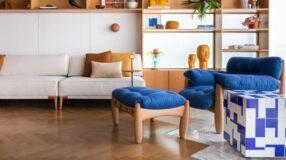 65 modelos de poltrona azul para ampliar o conforto na decoração